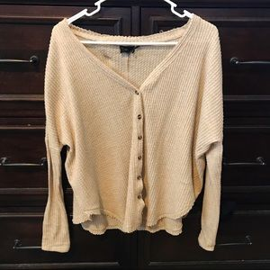 Urban Outfitters Beige Button Up Cardigan